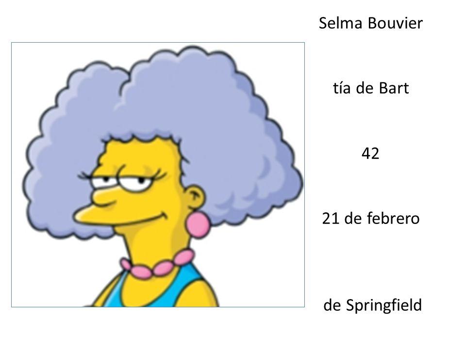 Selma Bouvier tía de Bart 42 21 de febrero de Springfield