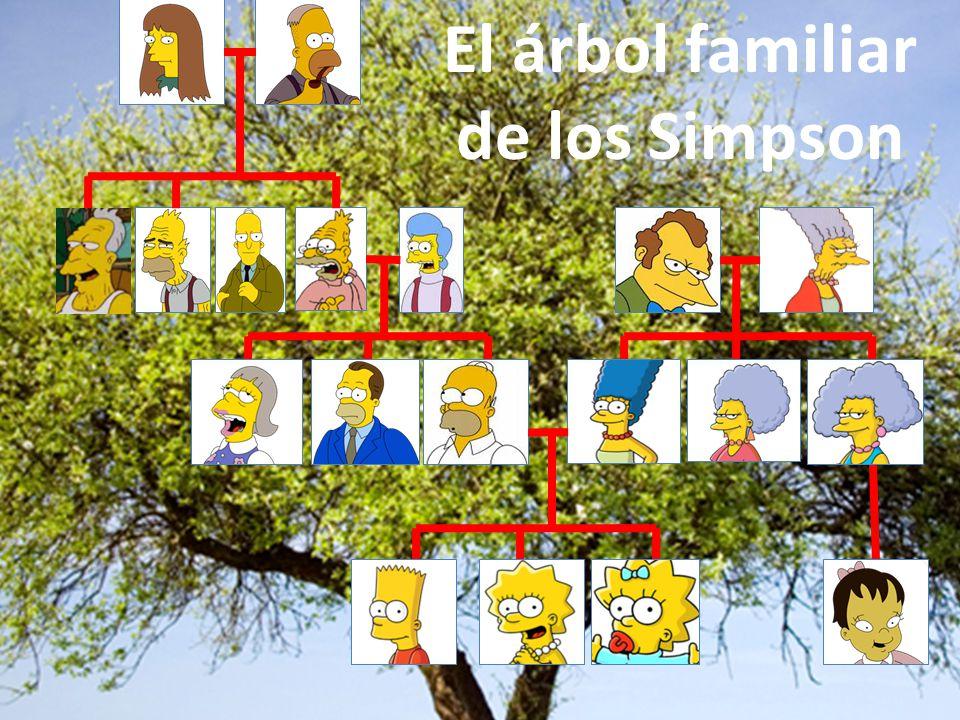 El árbol familiar de los Simpson