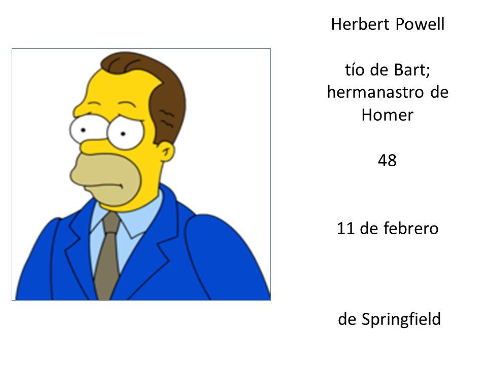Herbert Powell tío de Bart; hermanastro de Homer 48 11 de febrero de Springfield