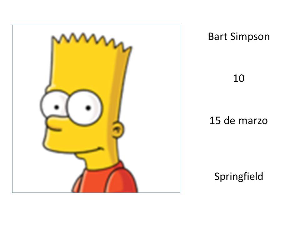 Bart Simpson 10 15 de marzo Springfield