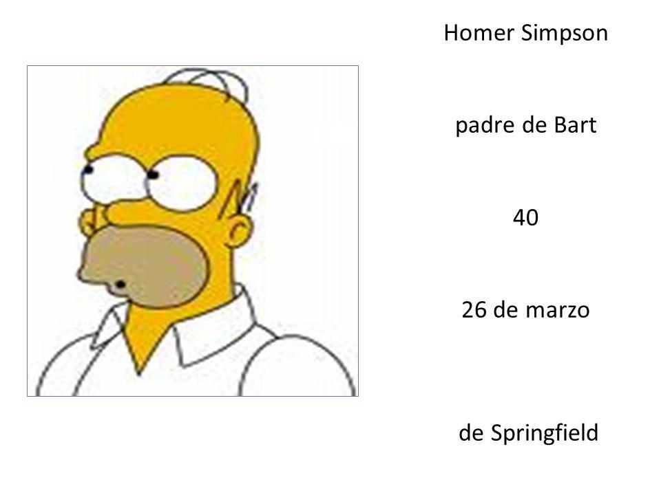 Homer Simpson padre de Bart 40 26 de marzo de Springfield
