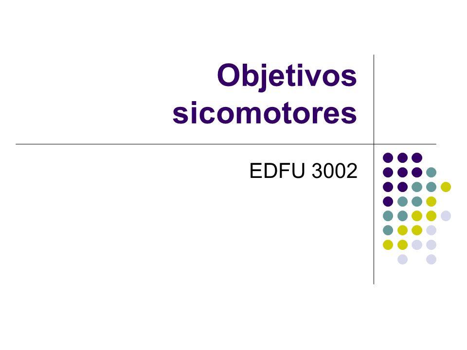 Objetivos sicomotores EDFU 3002