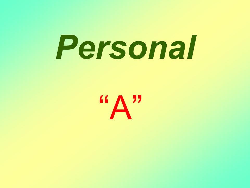 Personal A