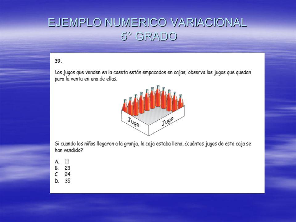 EJEMPLO NUMERICO VARIACIONAL 5° GRADO