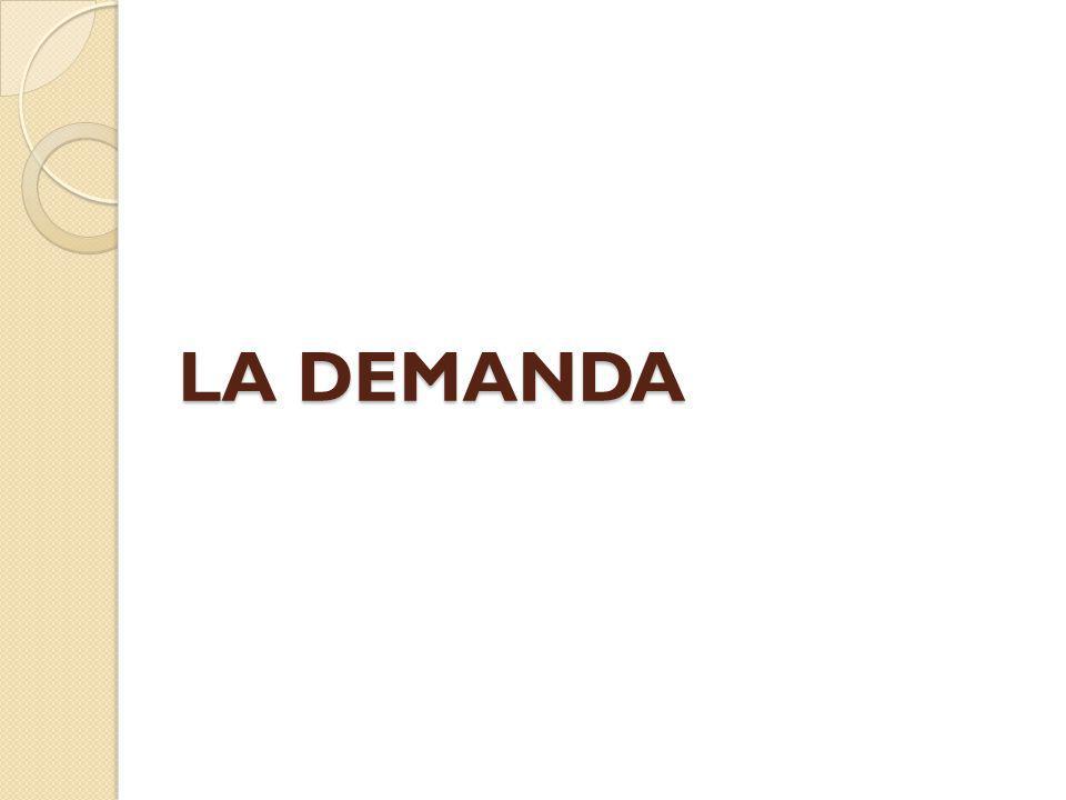 LA DEMANDA