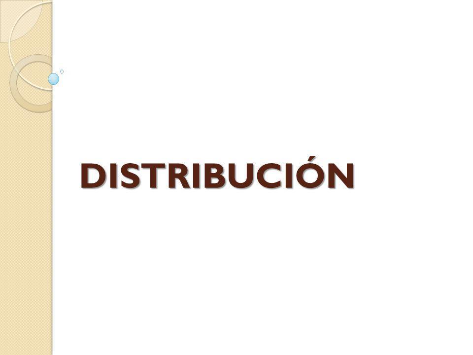 DISTRIBUCIÓN DISTRIBUCIÓN