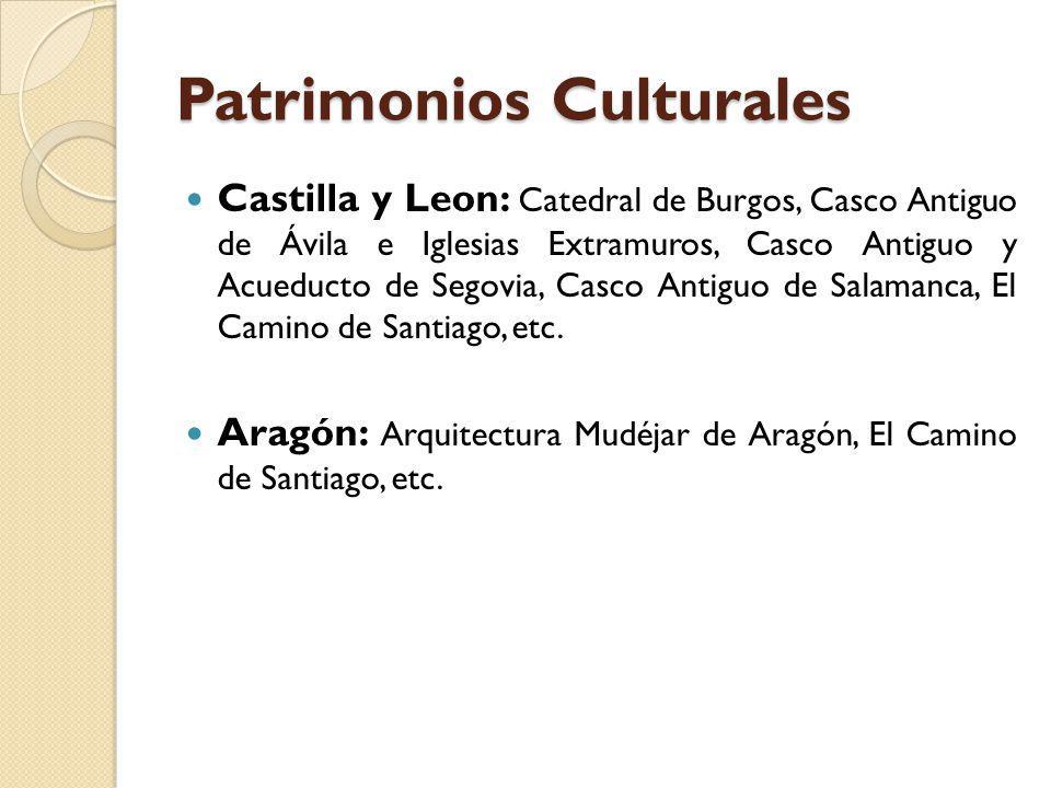 Patrimonios Culturales Castilla y Leon: Catedral de Burgos, Casco Antiguo de Ávila e Iglesias Extramuros, Casco Antiguo y Acueducto de Segovia, Casco