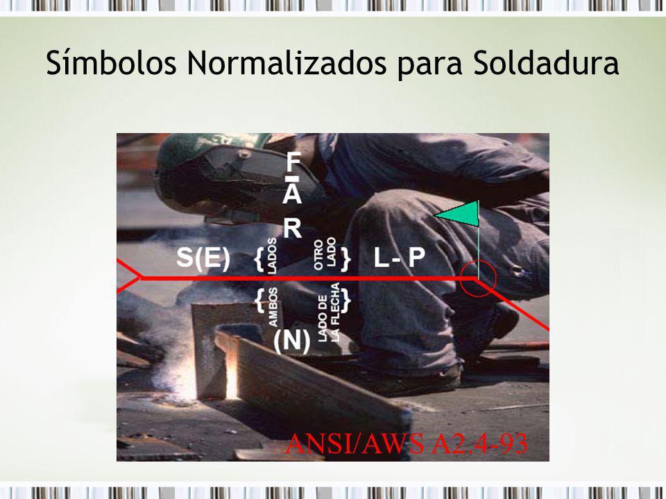 Símbolos Normalizados para Soldadura ANSI/AWS A2.4-93