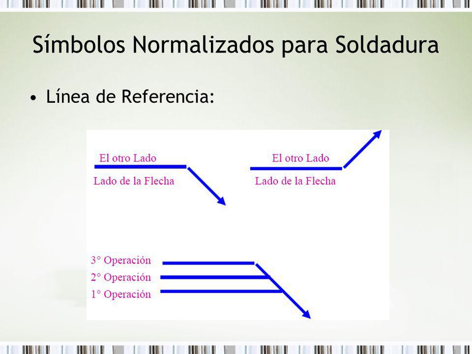 Símbolos Normalizados para Soldadura Línea de Referencia: