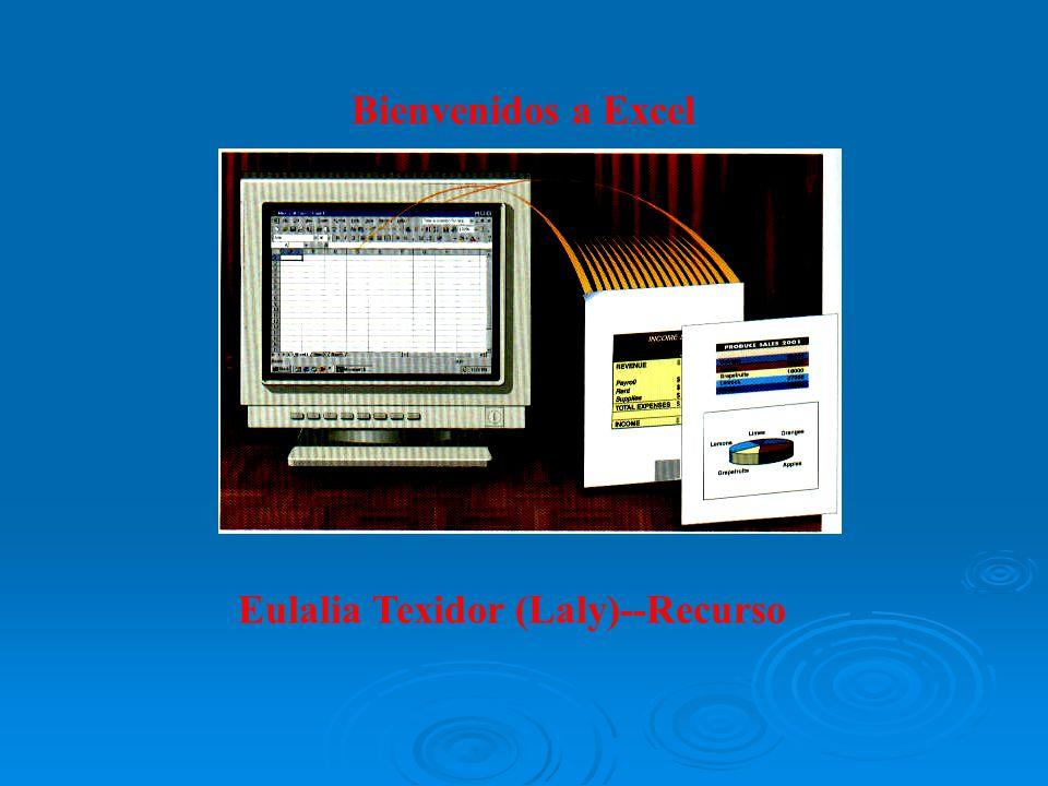 Bienvenidos a Excel Eulalia Texidor (Laly)--Recurso