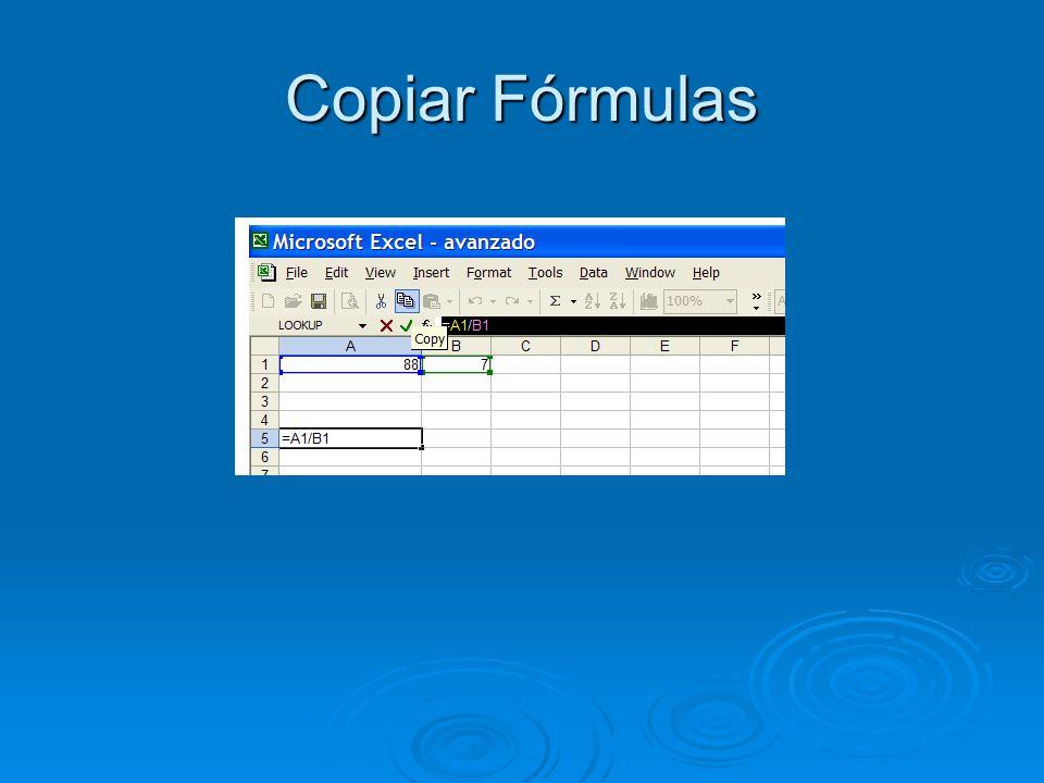 Copiar Fórmulas