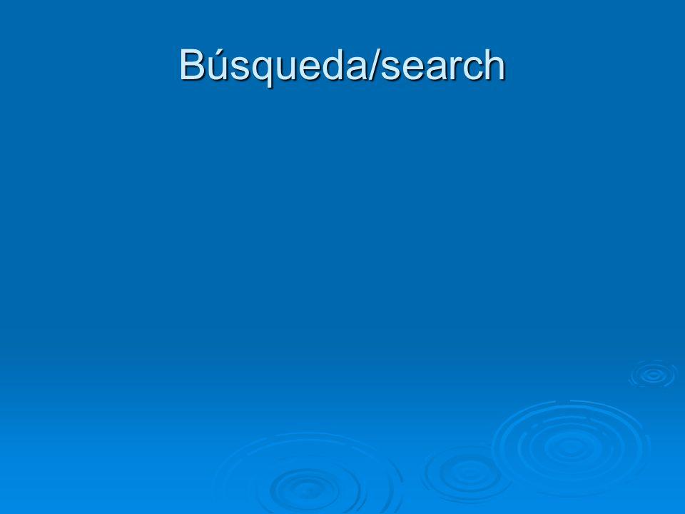 Búsqueda/search