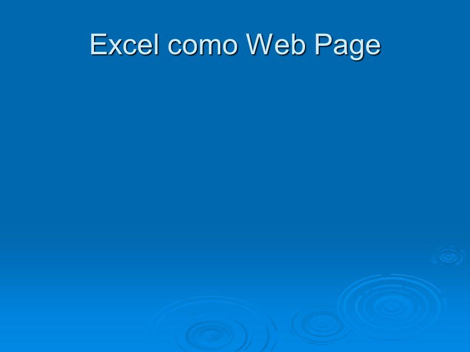Excel como Web Page