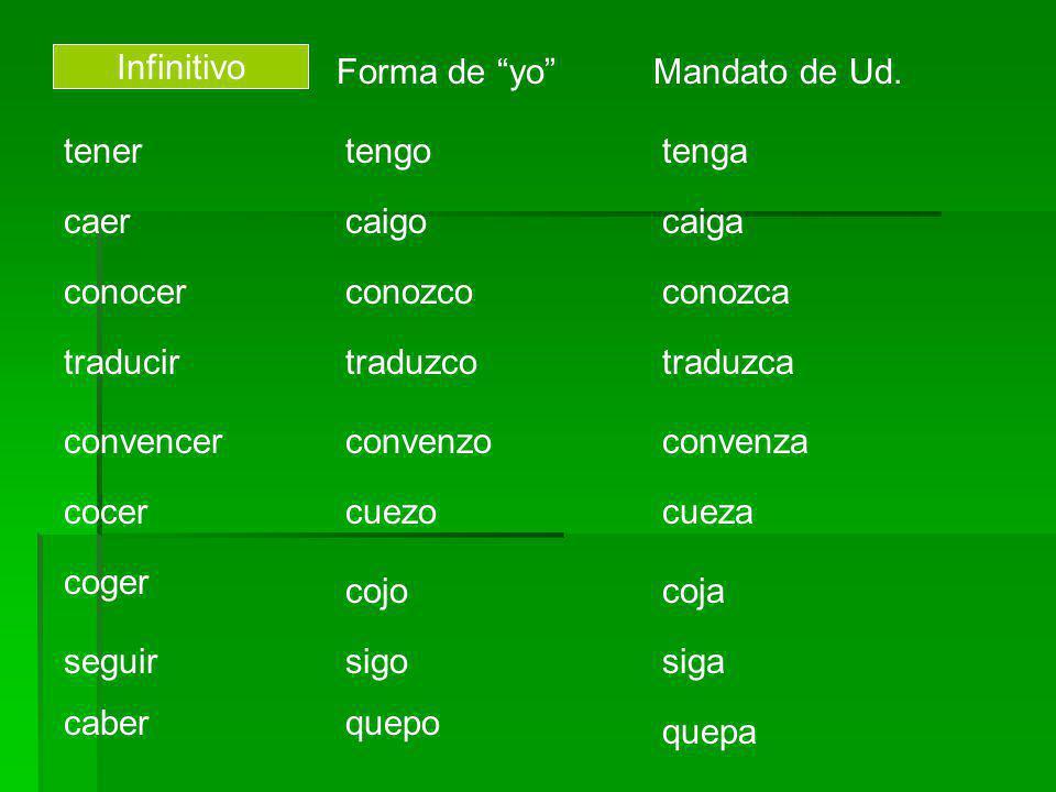 Verbos que tienen cambios ortográficos: Verbos en -carc se cambia a qu antes de e sacarsaquetocartoque Verbos en garg se cambia a gu antes de e llegarlleguejugarjuegue