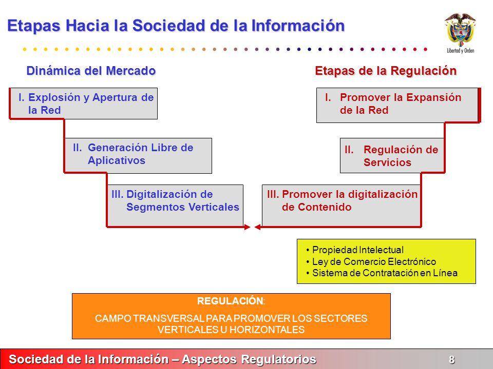 Sociedad de la Información – Aspectos Regulatorios 9 Sociedad de la Información – Aspectos Regulatorios 9 En la vía hacia la tercera Etapa....