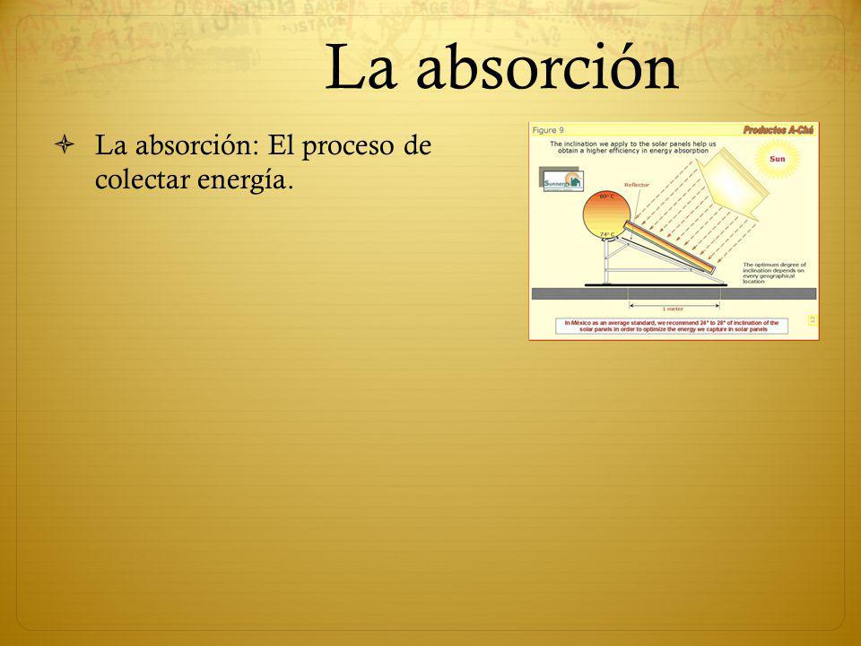 La absorción La absorción: El proceso de colectar energía.