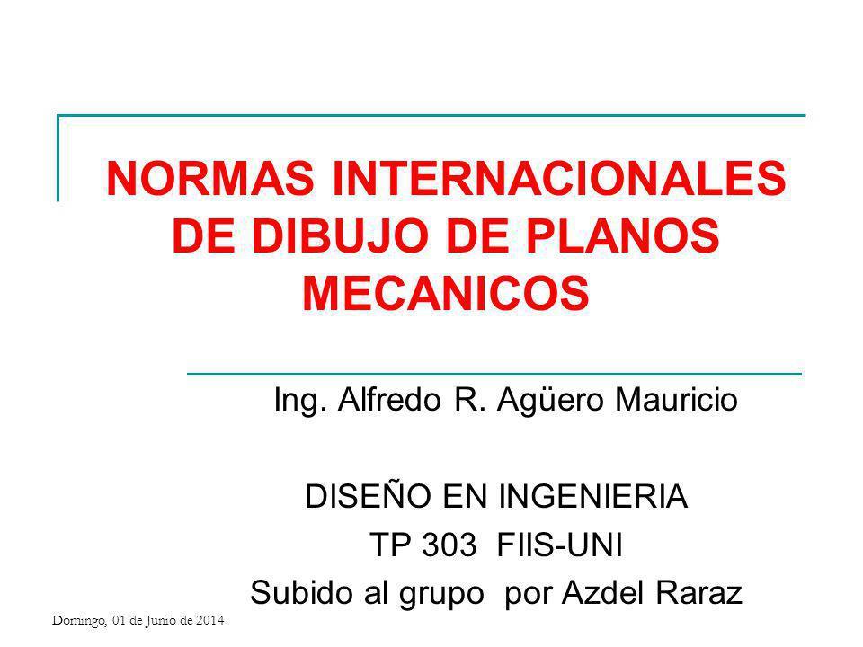NORMALIZACIÓN Domingo, 01 de Junio de 2014