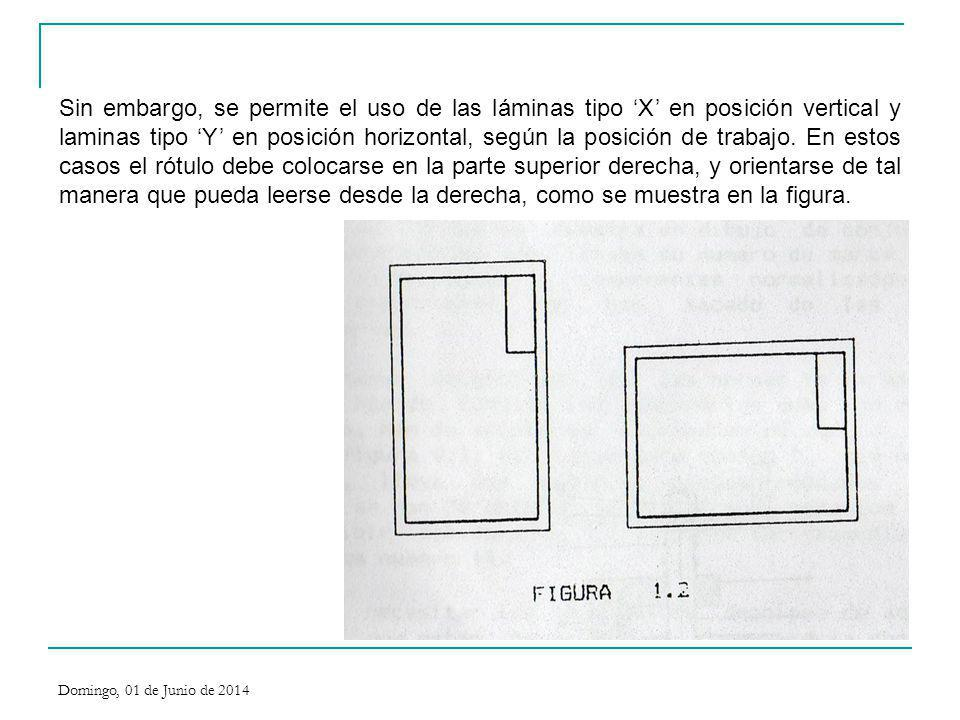 Sin embargo, se permite el uso de las láminas tipo X en posición vertical y laminas tipo Y en posición horizontal, según la posición de trabajo. En es
