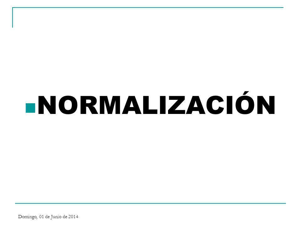 NORMALIZACION La normalización es un conjunto de reglas y recomendaciones, concebidos metódicamente por un organismo competente, destinados a conseguir y mantener un ordenamiento dentro de un campo determinado con el fin de procurar beneficios para la sociedad acordes con su desarrollo social-económico.