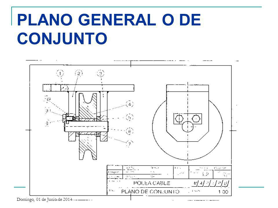 PLANO GENERAL O DE CONJUNTO Domingo, 01 de Junio de 2014