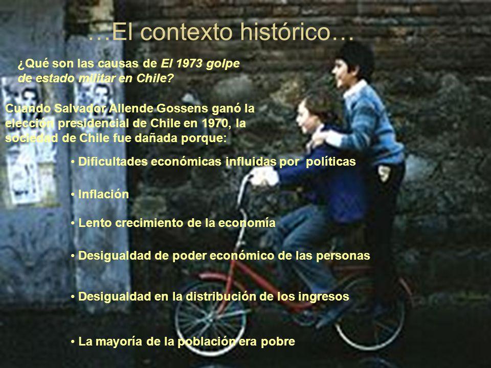 …El contexto histórico… ¿Qué son las causas de El 1973 golpe de estado militar en Chile.