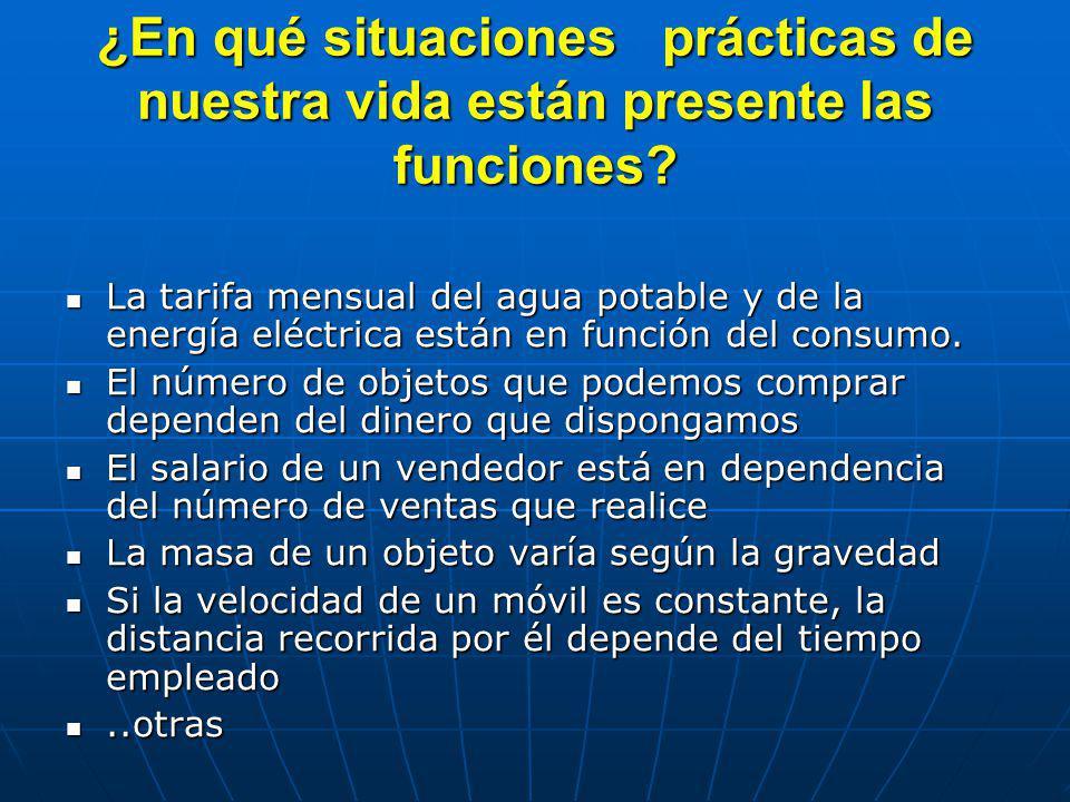 ¿Por qué es importante el estudio de las funciones ? Nos permite modelar y comprender distintos hechos o fenómenosNos permite modelar y comprender dis