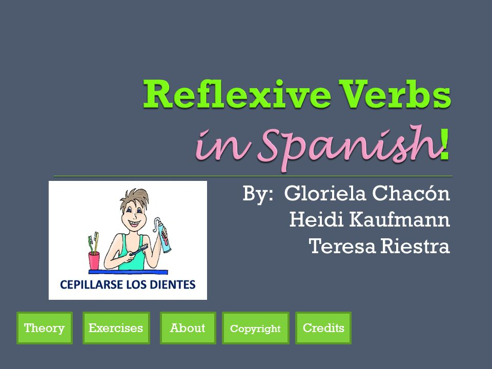 By: Gloriela Chacón Heidi Kaufmann Teresa Riestra Credits Copyright AboutTheoryExercises