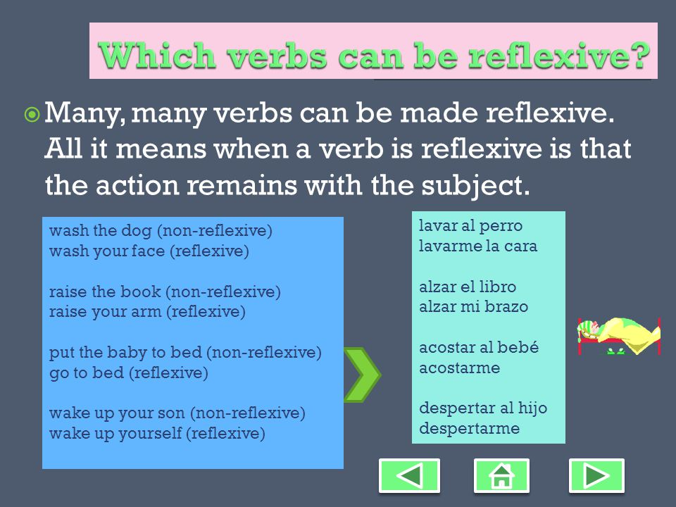 Choose the picture that matches the Spanish reflexive verb. 1. María se peina el pelo.