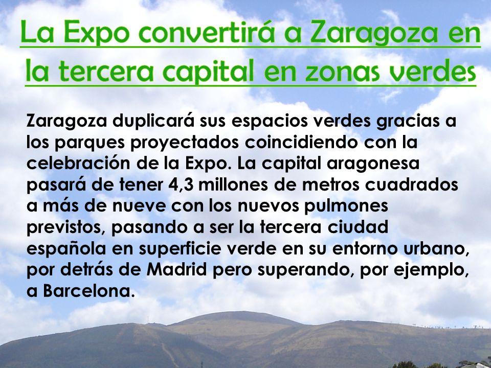 Zaragoza duplicará sus espacios verdes gracias a los parques proyectados coincidiendo con la celebración de la Expo.