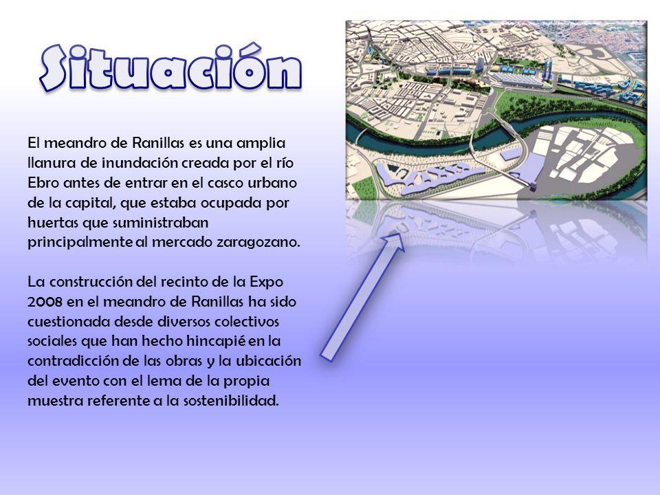El meandro de Ranillas es una amplia llanura de inundación creada por el río Ebro antes de entrar en el casco urbano de la capital, que estaba ocupada por huertas que suministraban principalmente al mercado zaragozano.