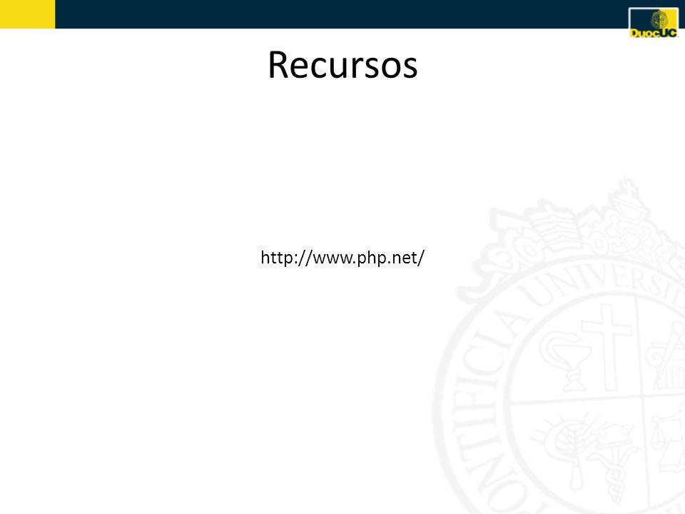 Recursos http://www.php.net/
