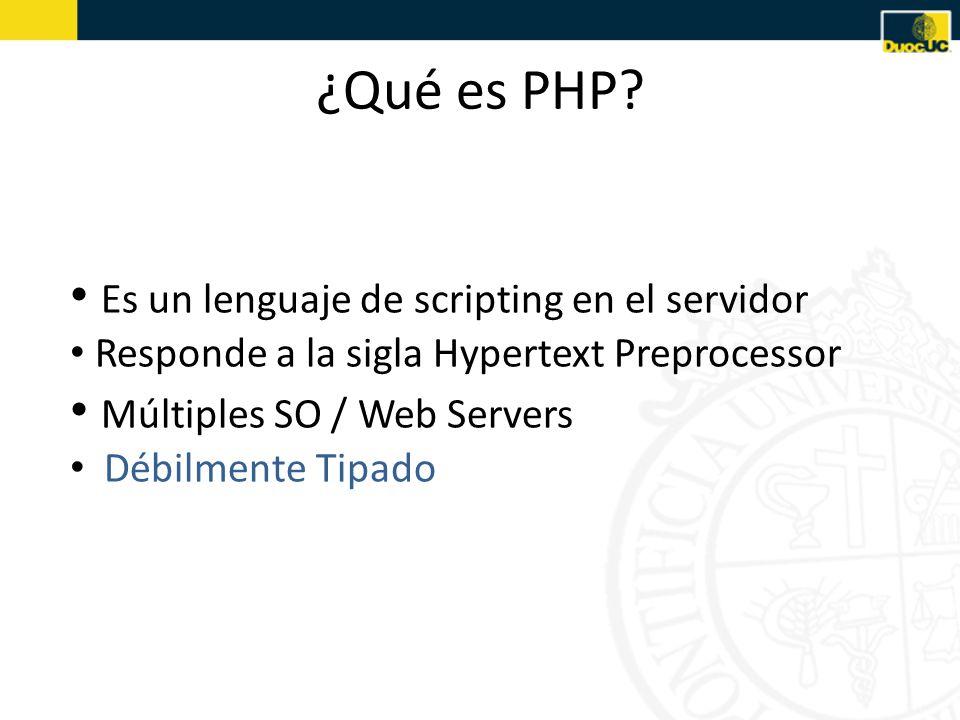 ¿Qué es PHP.