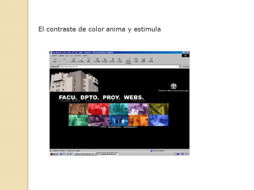 El contraste de color anima y estimula
