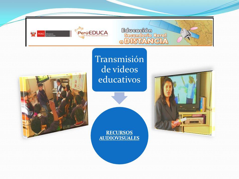 RECURSOS AUDIOVISUALES Transmisión de videos educativos