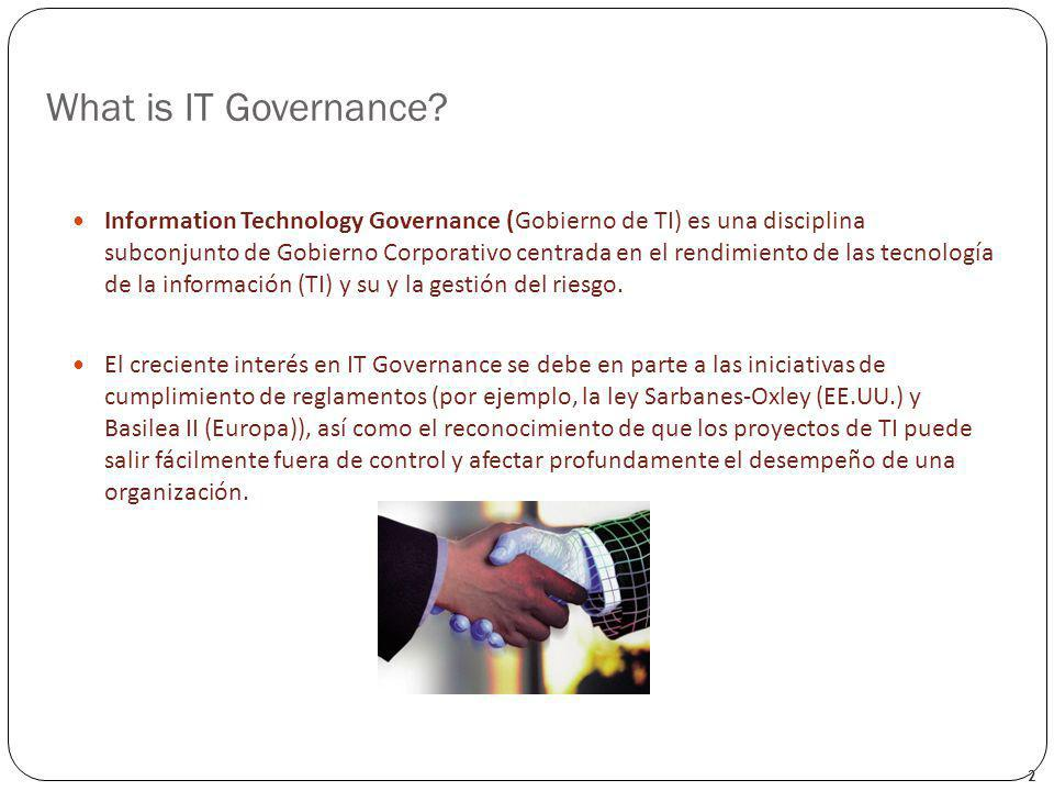 What is IT Governance.