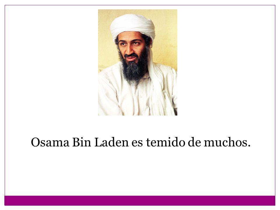 Osama Bin Laden es temido de muchos.