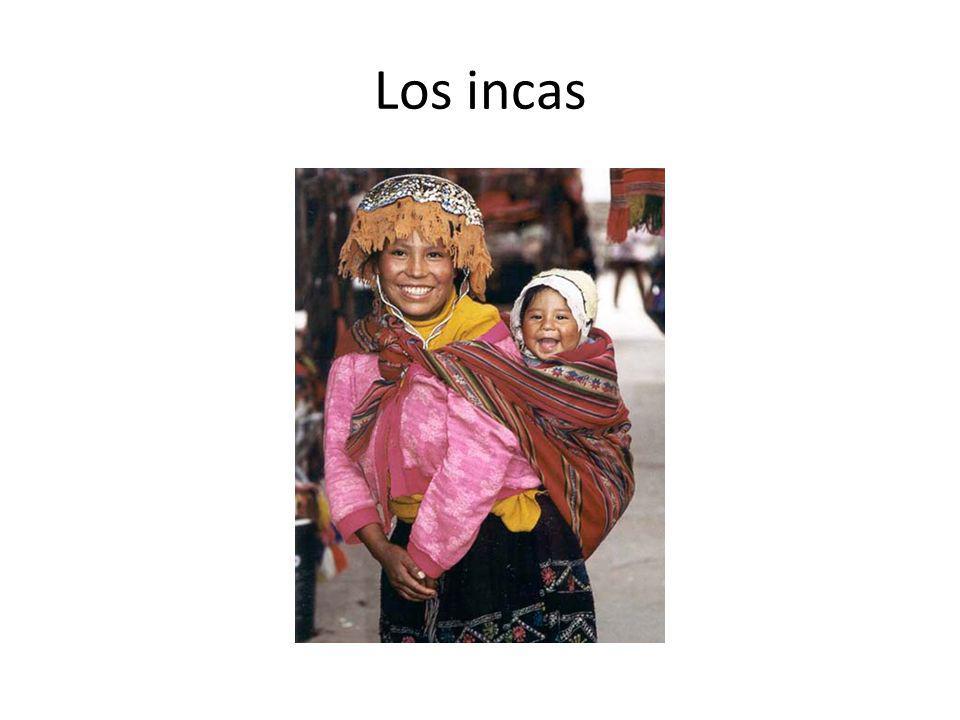 Los incas vivían en las montañas Andes.