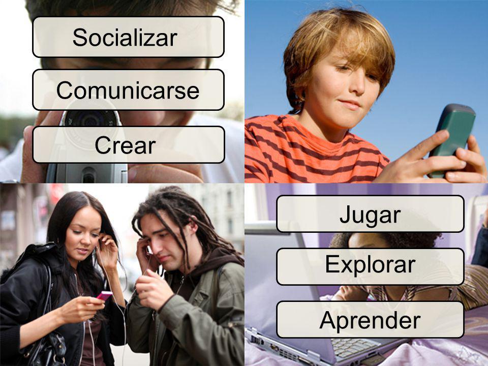 Socializar Comunicarse Crear Jugar Explorar Aprender