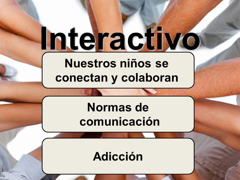 Interactivo Nuestros niños se conectan y colaboran Normas de comunicación Adicción