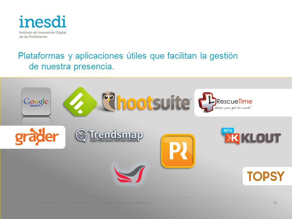 Plataformas y aplicaciones útiles que facilitan la gestión de nuestra presencia.
