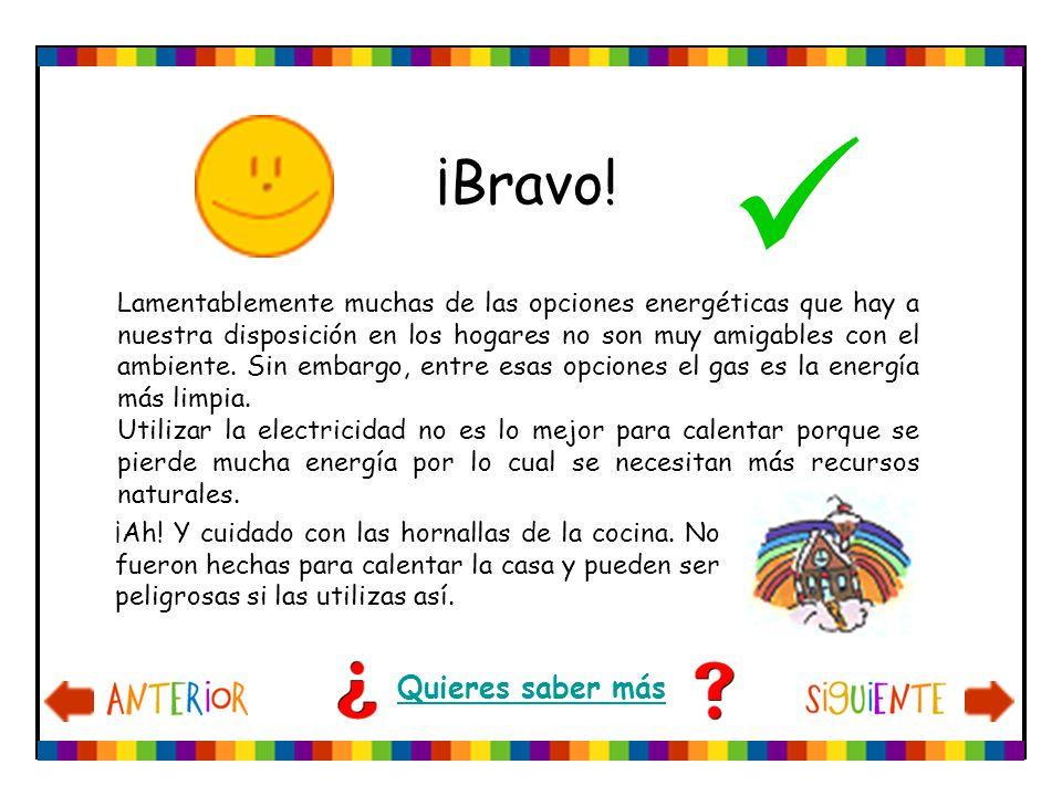 ¡Bravo! Quieres saber más Lamentablemente muchas de las opciones energéticas que hay a nuestra disposición en los hogares no son muy amigables con el