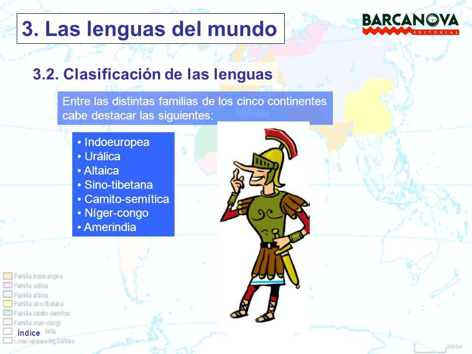 Índice 3.Las lenguas del mundo Índice 3.2.