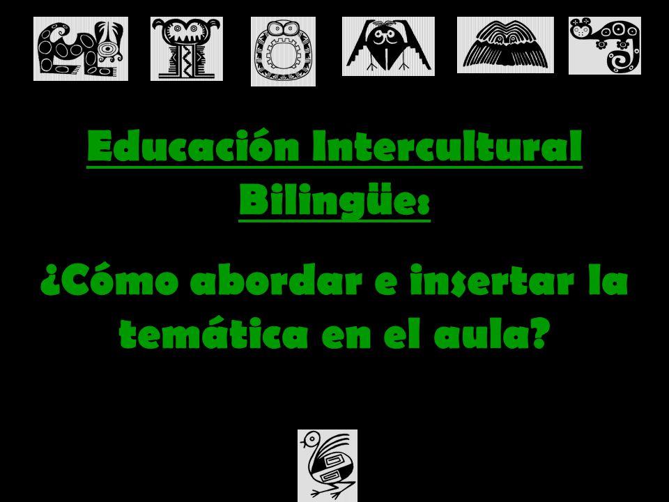 Educación Intercultural Bilingüe: ¿Cómo abordar e insertar la temática en el aula?