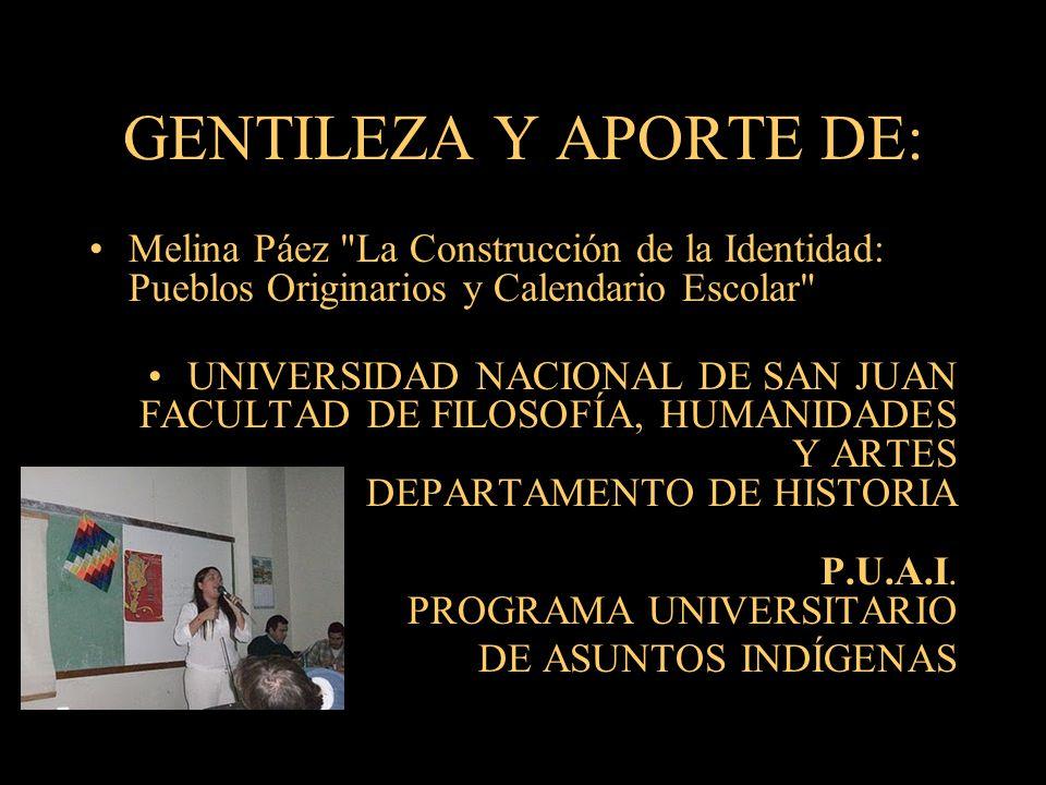 GENTILEZA Y APORTE DE: Melina Páez