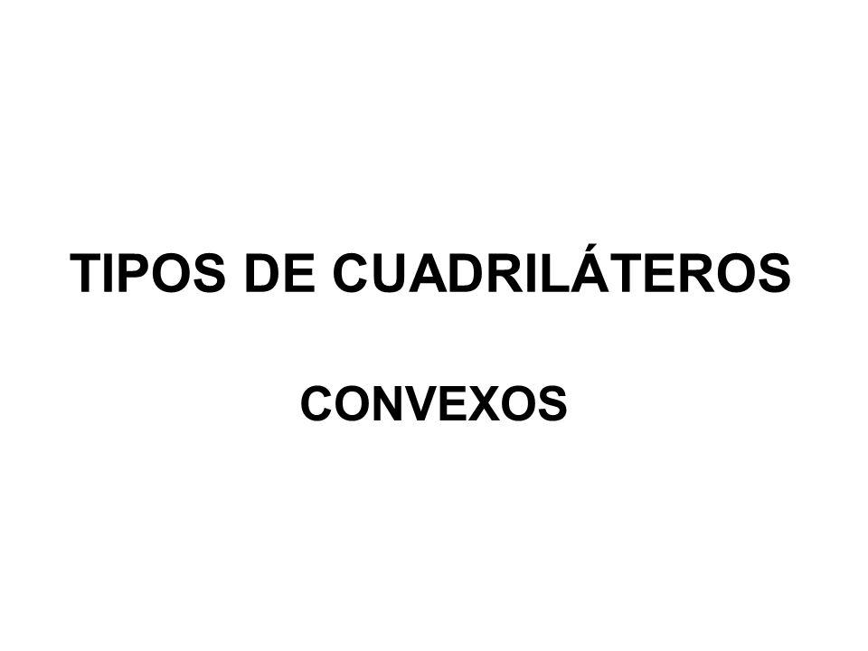 TIPOS DE CUADRILÁTEROS CONVEXOS