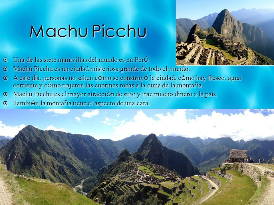 Machu Picchu Una de las siete maravillas del mundo es en Per ú.