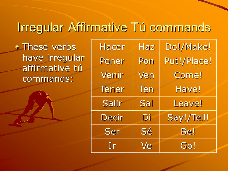 Negative Tú Commands Negative commands tell someone what NOT to do.