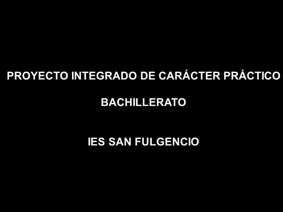 PROYECTO INTEGRADO DE CARÁCTER PRÁCTICO BACHILLERATO IES SAN FULGENCIO