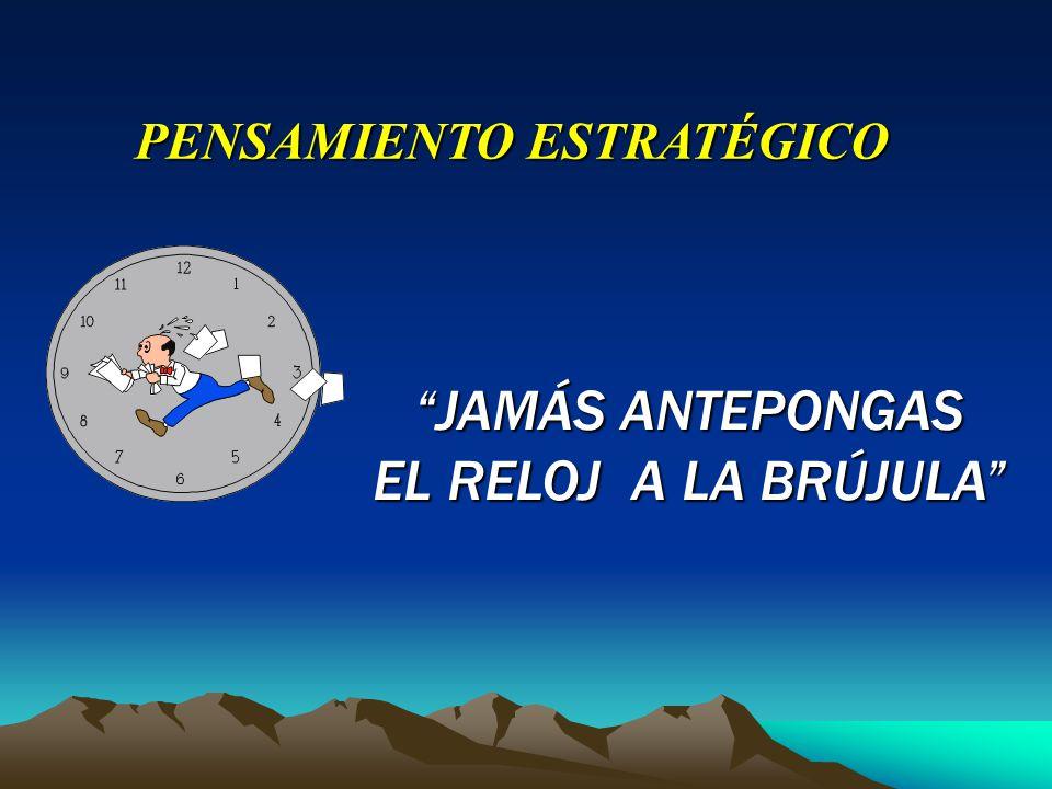 JAMÁS ANTEPONGAS EL RELOJ A LA BRÚJULA PENSAMIENTO ESTRATÉGICO