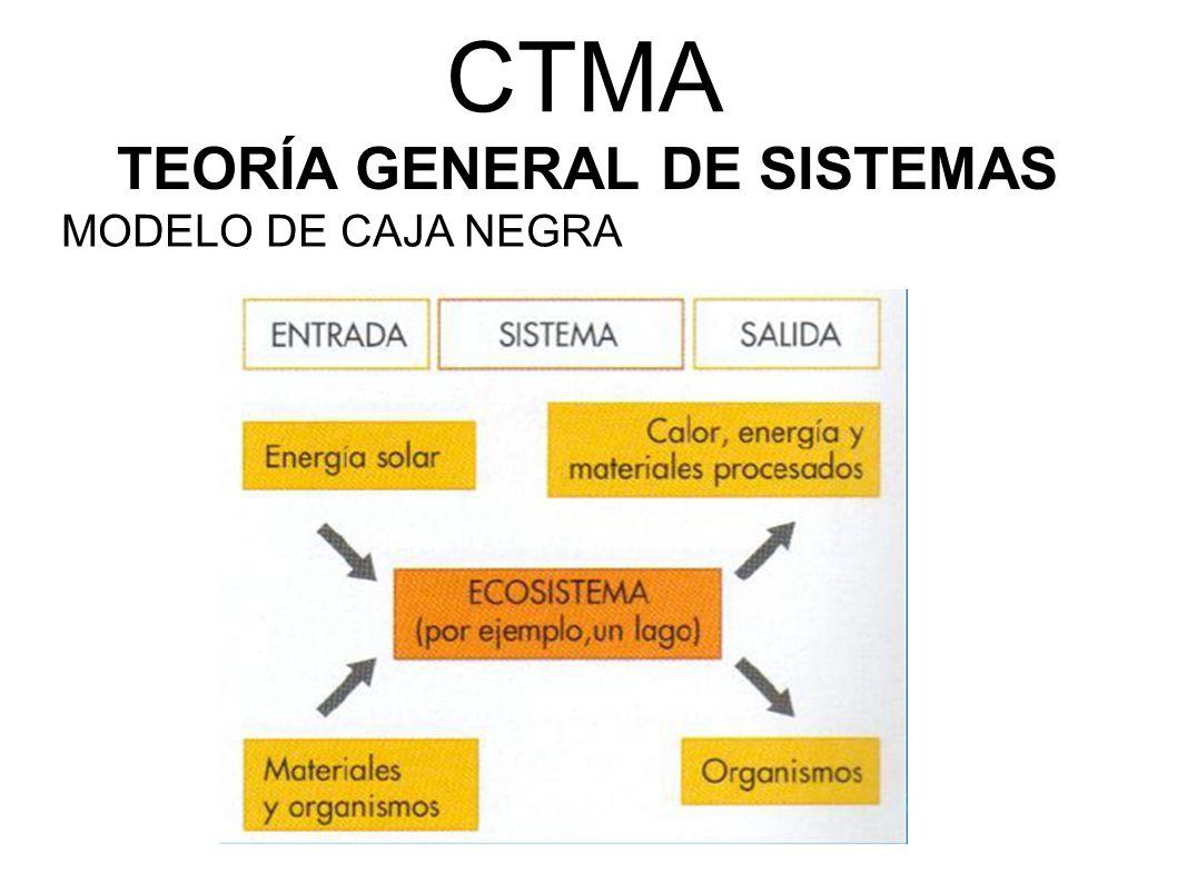 CTMA TEORÍA GENERAL DE SISTEMAS MODELO DE CAJA NEGRA